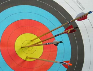 target with arrows in center - focused internet marketing