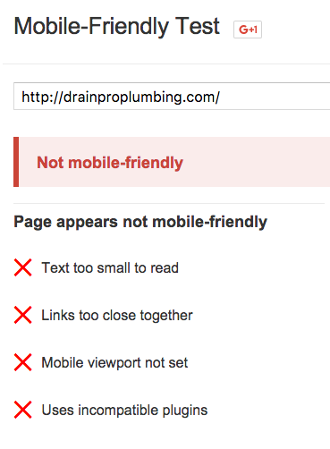 Google says your site is not mobile firendly