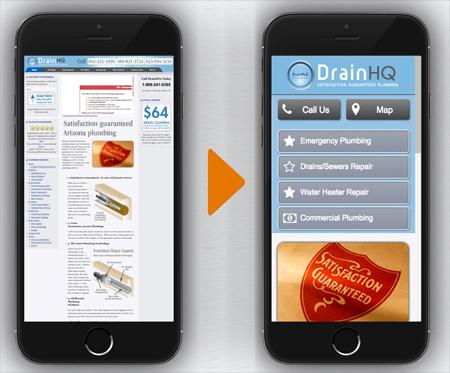 Smartphones comparing non-mobile and mobile website conversion factors